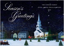 Holiday Cards - seasonal town square