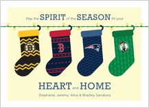 Holiday Cards - boston sports spirit