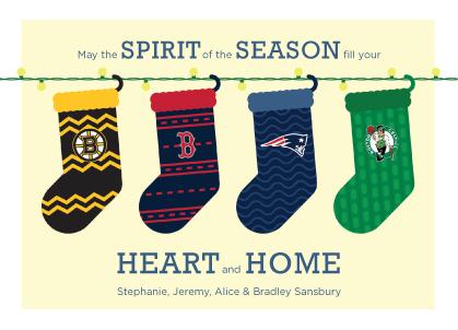 Holiday Cards - Boston Sports Spirit