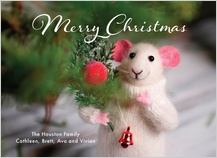 Christmas Cards - merry christmas mouse