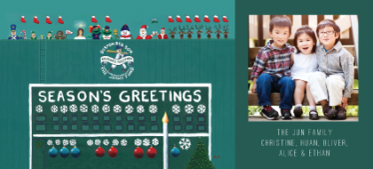 Holiday Cards - Green Monster Greetings