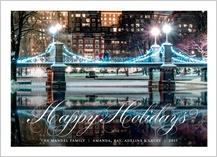 Holiday Cards - snowy stroll 2017