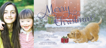 Christmas Cards - Merry Christmas Puppy