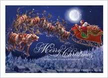 Christmas Cards - santa sleigh