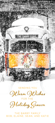 Holiday Cards - Riding the T