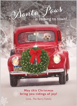 Christmas Cards - santa paws