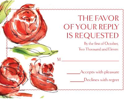Response Card - Coming Up Roses Wedding