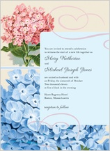 Wedding Invitation - vintage hydrangea