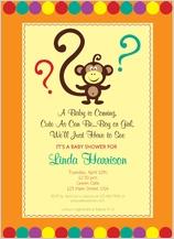 Baby Shower Invitation - monkey around