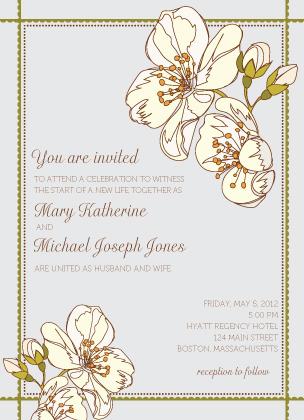 Wedding Invitation - Spring Blossoms
