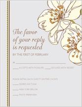 Response Card - spring blossoms