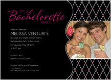 Bachelorette Party Invitation - fishnet bachelorette