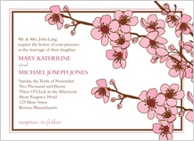 Wedding Invitation - cherry blossoms