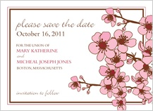Save the Date Card - cherry blossoms