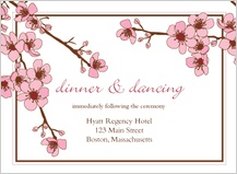 Reception Card - cherry blossoms