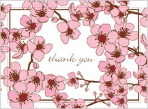 Wedding Thank You Card - cherry blossoms