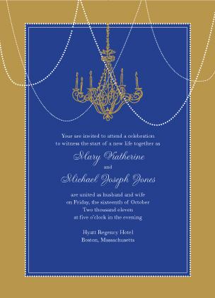 Wedding Invitation - Chandelier Nights