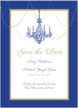 Save the Date Card - chandelier nights