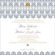 Wedding Invitation - gold & silver flourish