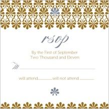Response Card - gold & silver flourish