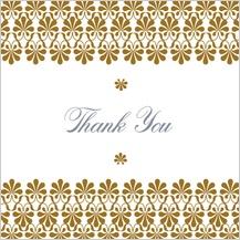 Wedding Thank You Card - gold & silver flourish