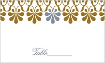 Place Card - gold & silver flourish