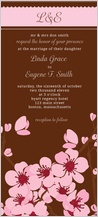 Wedding Invitation - cherry blossoms sing