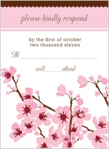 Response Card - cherry blossoms sing