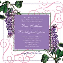 Wedding Invitation - vintage lilac