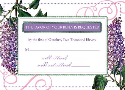 Response Card - Vintage Lilac
