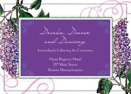 Reception Card - Vintage Lilac
