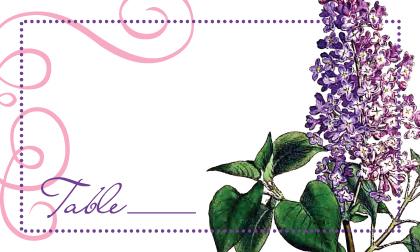 Place Card - Vintage Lilac
