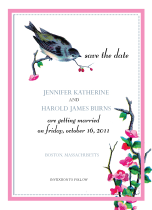 Save the Date Card - sparrow days