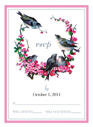 Response Card - sparrow days