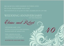 Anniversary Party Invitation - ever ours