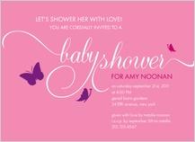 Baby Shower Invitation - flutter buzz