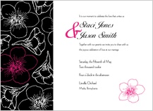 Wedding Invitation - contemporary floral