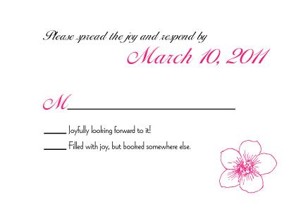 Response Card - Contemporary Floral