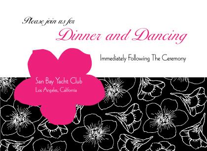 Reception Card - Contemporary Floral