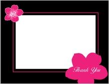 Wedding Thank You Card - contemporary floral