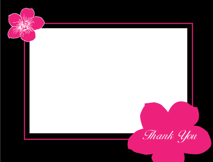 Wedding Thank You Card - Contemporary Floral