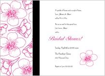 Wedding Shower Invitation - contemporary floral