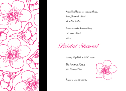 Wedding Shower Invitation - Contemporary Floral