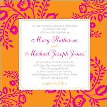 Wedding Invitation - orange & pink nights