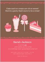Birthday Party Invitation - sweet little birthday