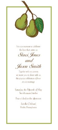 Wedding Invitation - Pears