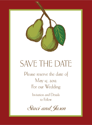 Save the Date Card - Pears