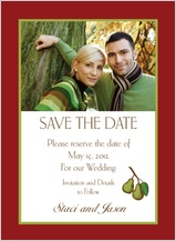 Save the Date Card with photo - pears