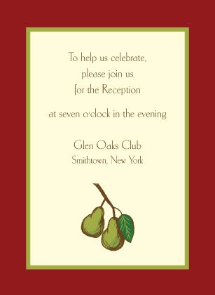 Reception Card - Pears