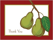 Wedding Thank You Card - pears